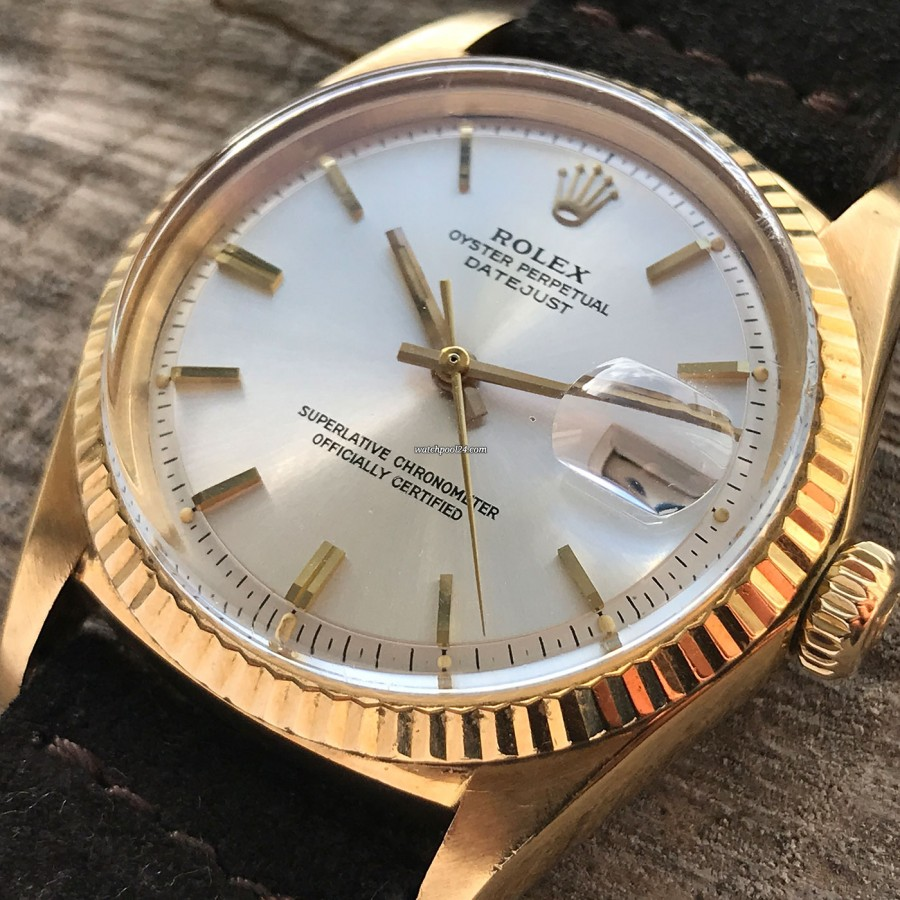 Rolex Datejust 1601 Step Dial - Papers - silbernes Stufen-Zifferblatt (step dial)