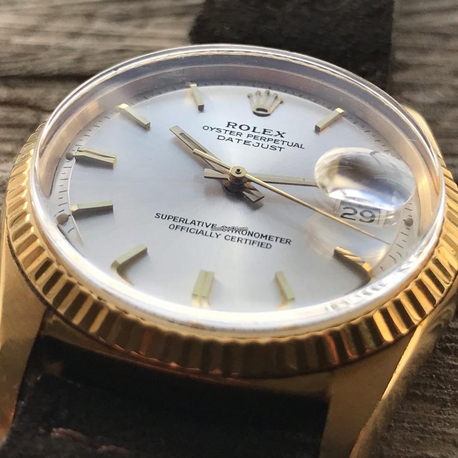 Rolex Datejust 1601 Step Dial - Papers - goldene Stundenmarker und Zeiger
