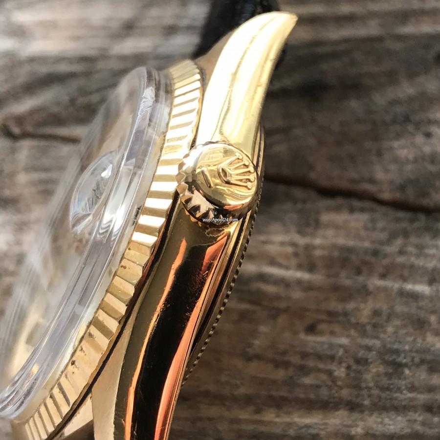 Rolex Datejust 1601 Step Dial - Papers - goldene Rolex Twinlock-Krone