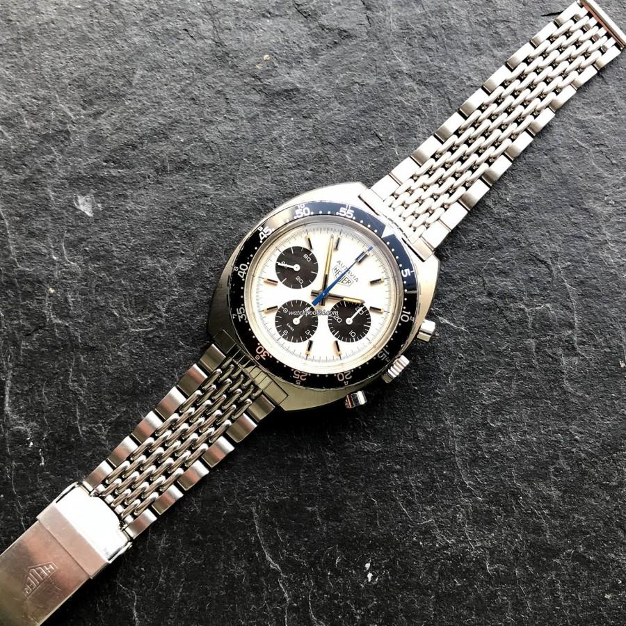 Heuer Autavia 73663 Siffert Color - seltene Uhr mit seltenem Armband (Gay Frères)