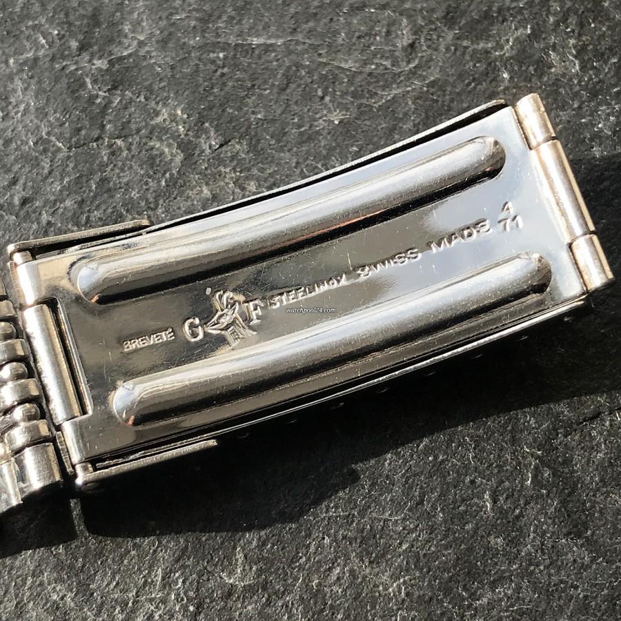 Heuer Autavia 73663 Siffert Color - Gay Frères Armband - Schließe signiert mit 4. Quartal 1971