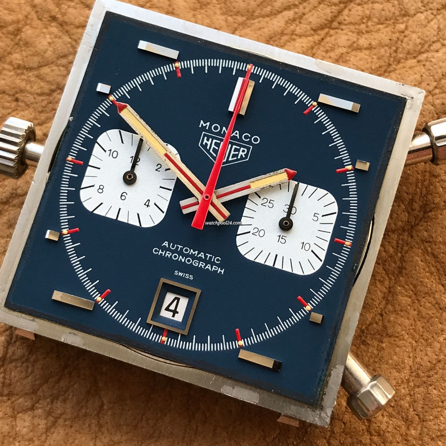 Heuer Monaco 1133B - NOS - Sticker - we opened the case to explore the beauty of this legend
