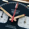 Heuer Monaco 1133B - NOS - Sticker - hand set with natural patina