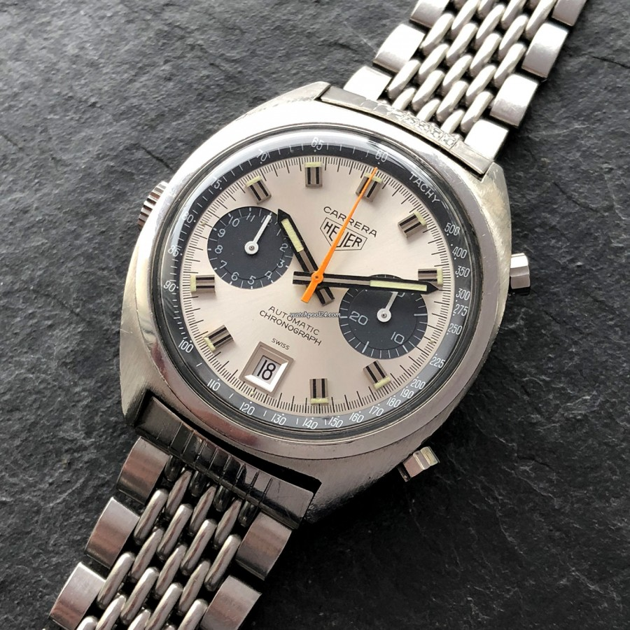 Heuer Carrera 1153 - Silver Dial - beautiful dial configuration