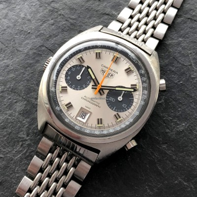 Heuer Carrera 1153 - Silver Dial