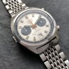 Heuer Carrera 1153 - Silver Dial - unpolished stainless steel case, tonneau-shaped