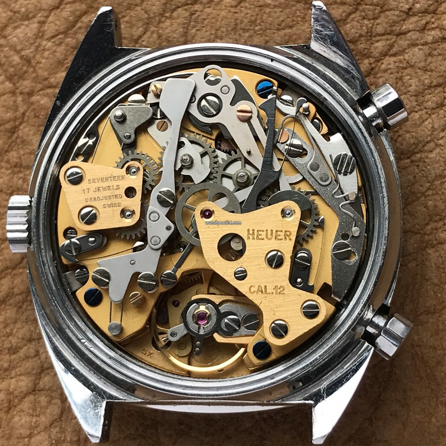 Heuer Carrera 1153 - Silver Dial - Heuer Caliber 12