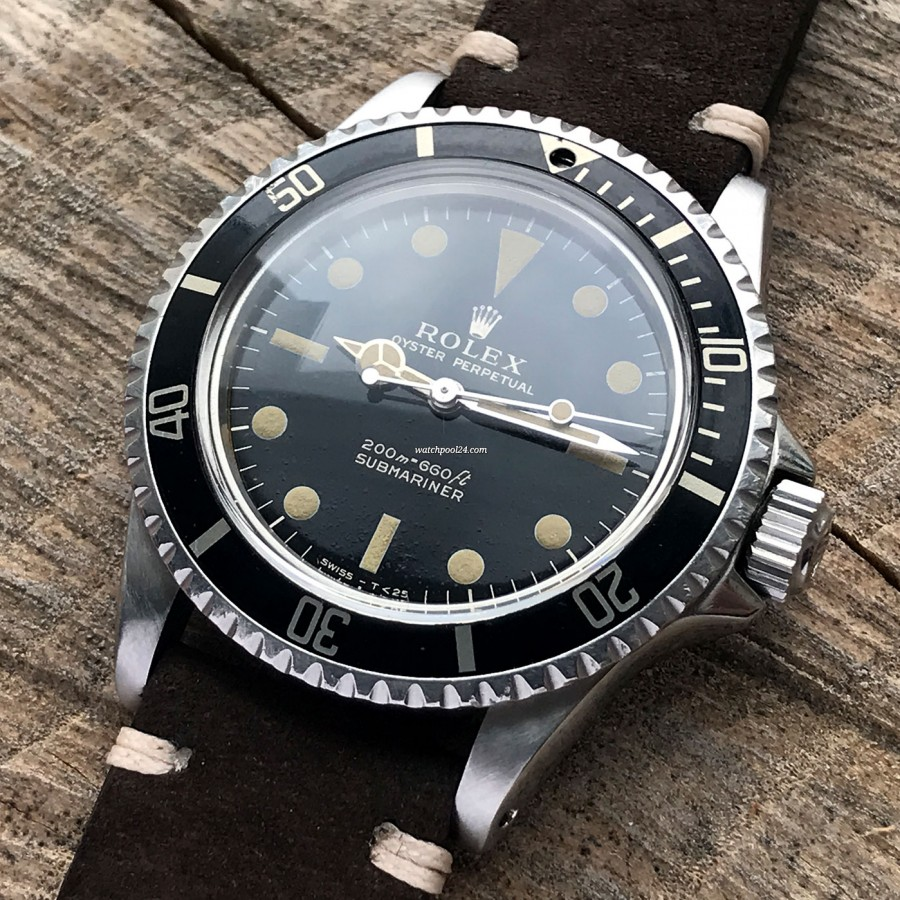 Rolex Submariner 5513 PCG - black rotating bezel