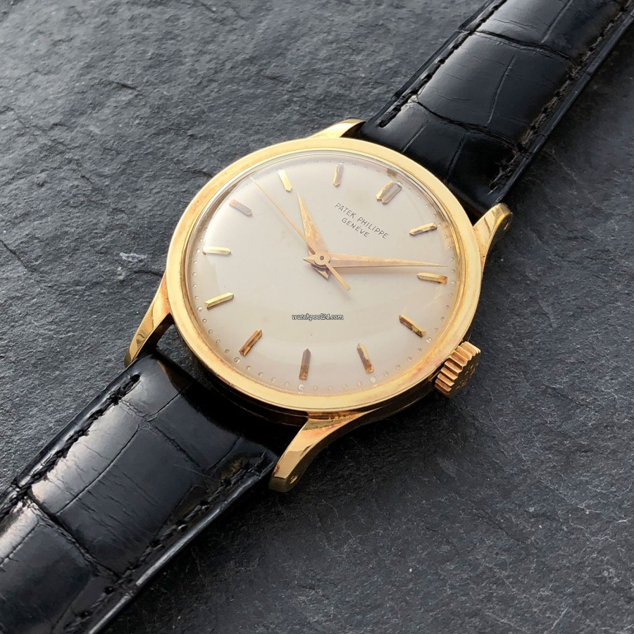 Patek Philippe Calatrava 570 Jumbo - oversized 18k yellow gold case