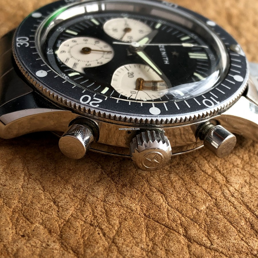 Zenith A277 Diver - Chronograph pushers, NATO-star signed crown