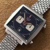 Heuer Monaco 1133B Transitional NOS - blue dial and white sub dials