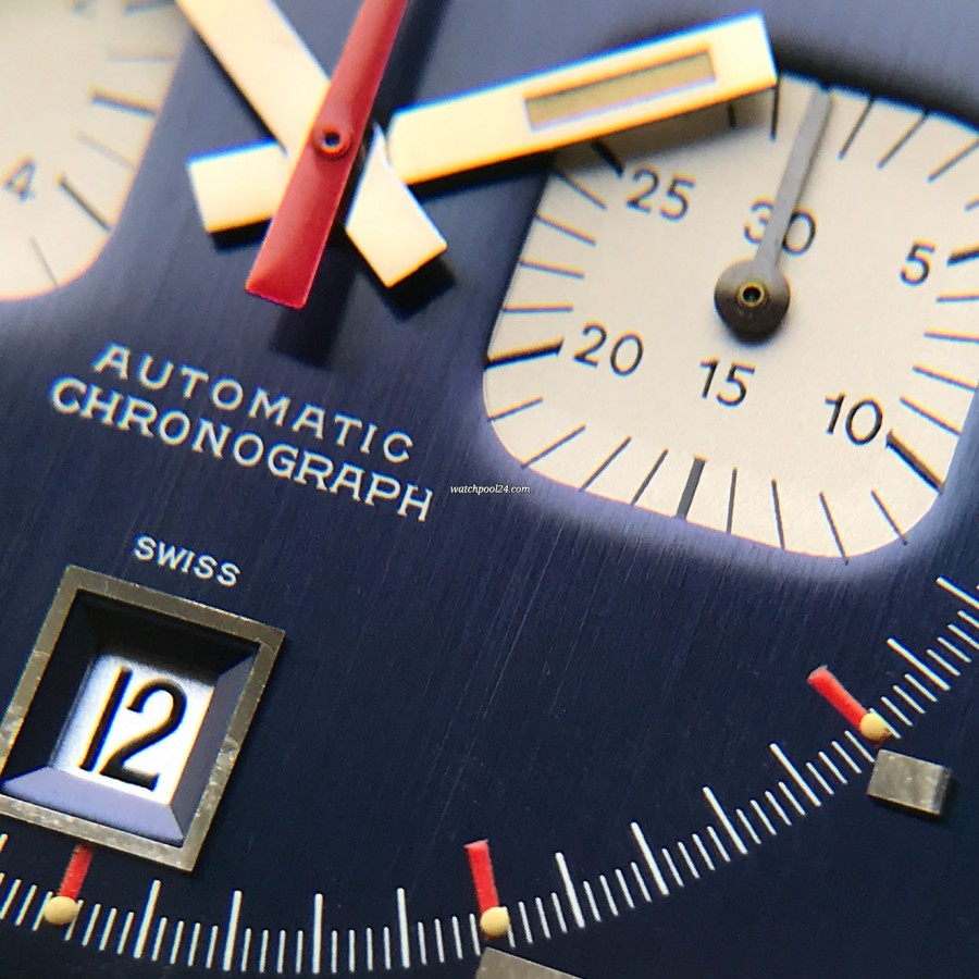 Heuer Monaco 1133B Transitional NOS - 30 minutes counter of the chronograph and the date window