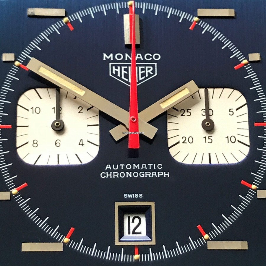 Heuer Monaco 1133B Transitional NOS - the perfection of the dial is breathtaking