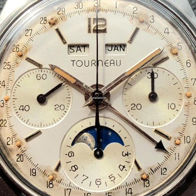Tourneau Datofix 4356 Triple Calendar Moon Phase