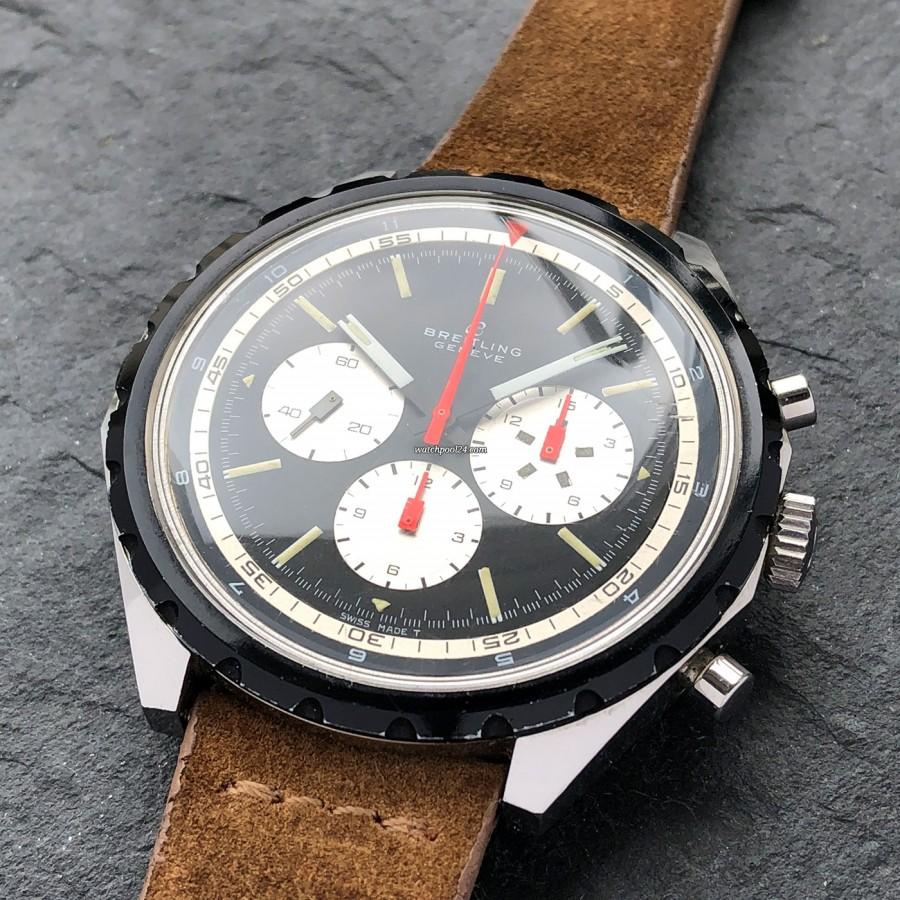 Breitling Co-Pilot 7652 Big Eye - schwarzes Zifferblatt mit weißem Innenring