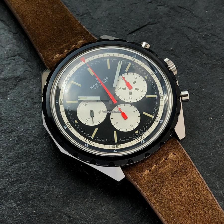 Breitling Co-Pilot 7652 Big Eye - cremige Tritium-Leuchtmasse in den Stundenmarkern und Zeigern
