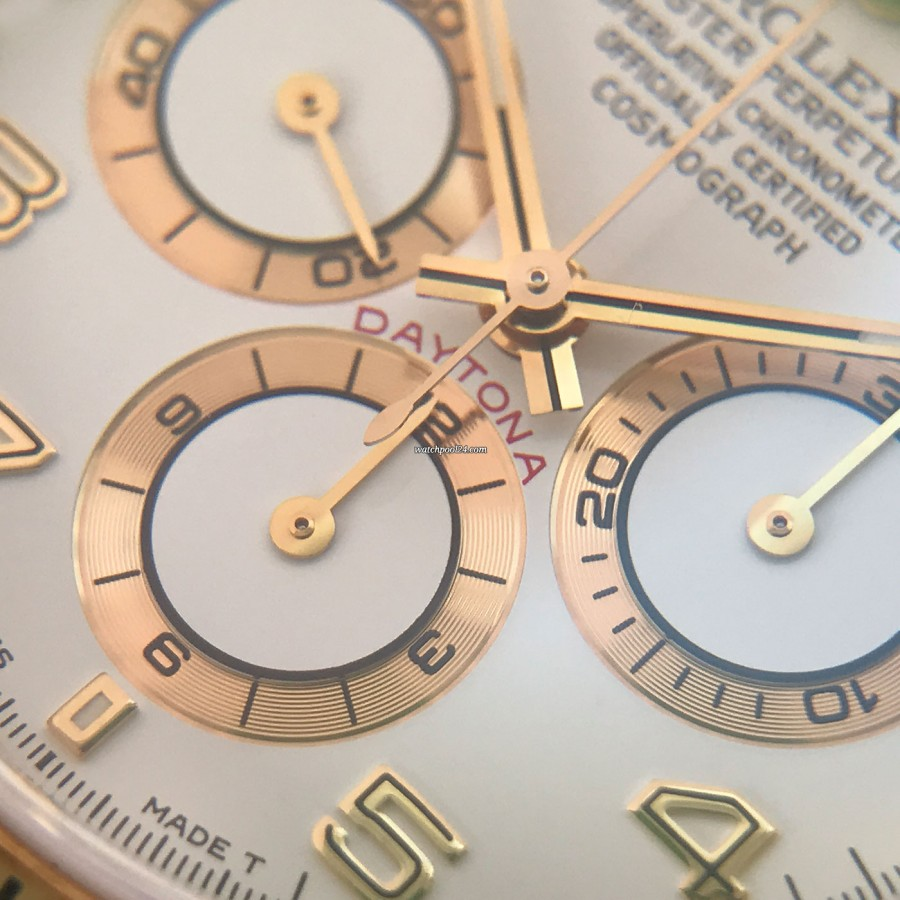 Rolex Daytona 16518 Full Set - gold bordered sub dials and the red Daytona label