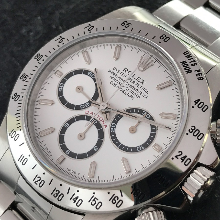 Rolex Daytona 16520 Full Set - LC100 - stainless steel bezel with tachymeter scale