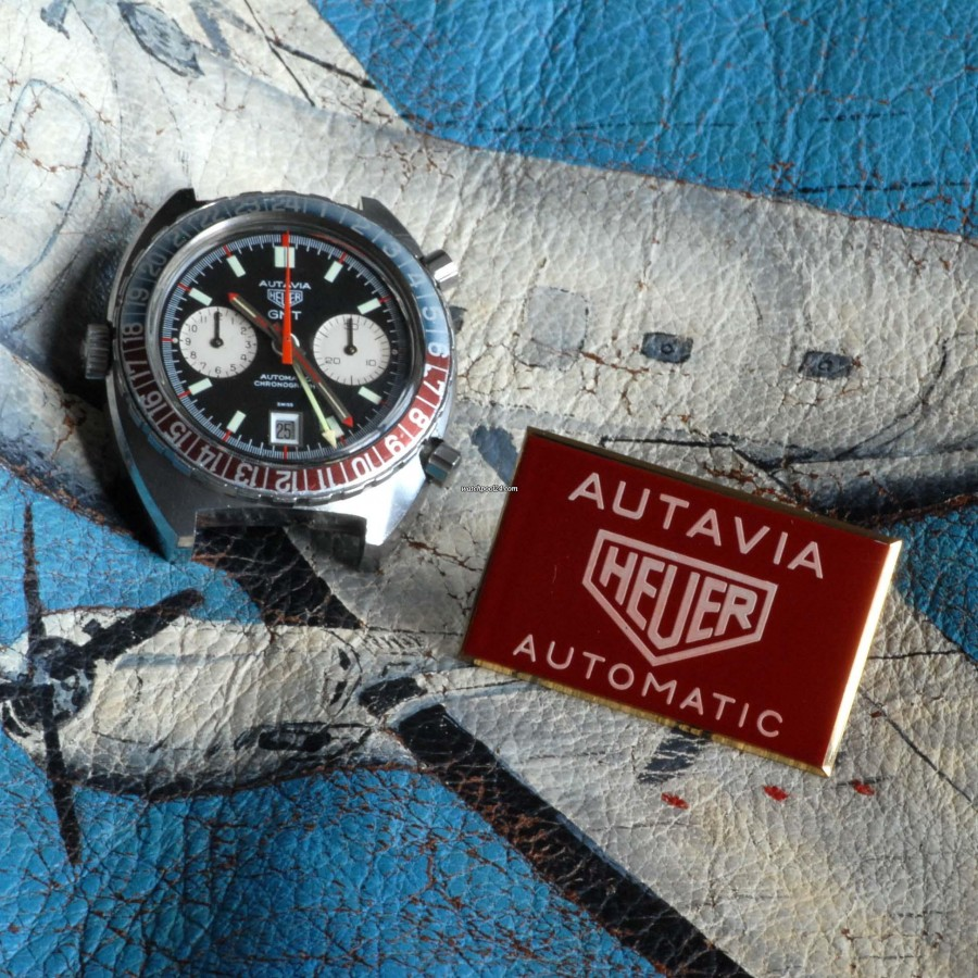 Heuer Autavia 1163 GMT Early MK1 - beautiful pilot watch
