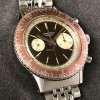 Longines Diver Chronograph 7981-1 Big Eye Tropical - tropical burgunder-rote Lünette mit Stunden- und Minutenzahlen