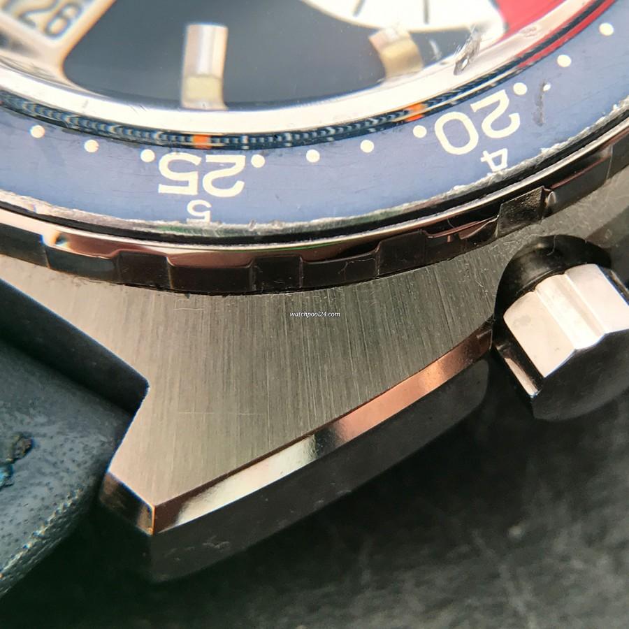 Heuer Skipper 73464 - stainless steel case with sunburst surface, sharp edges