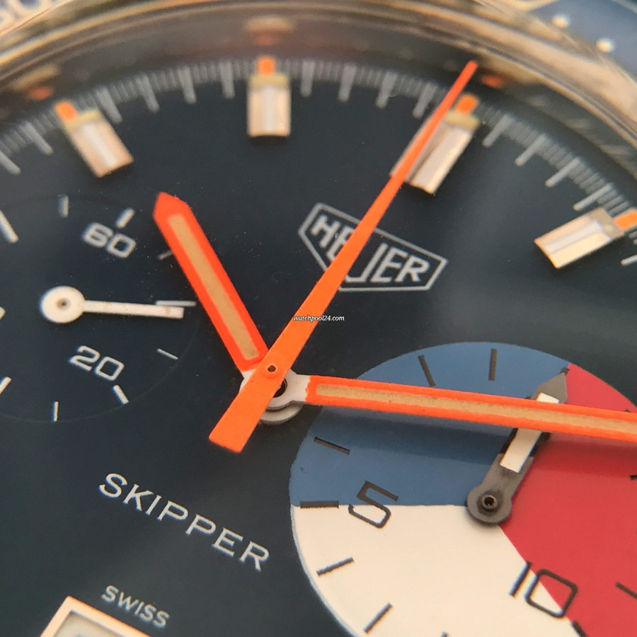 Heuer Skipper 73464 - orange hands