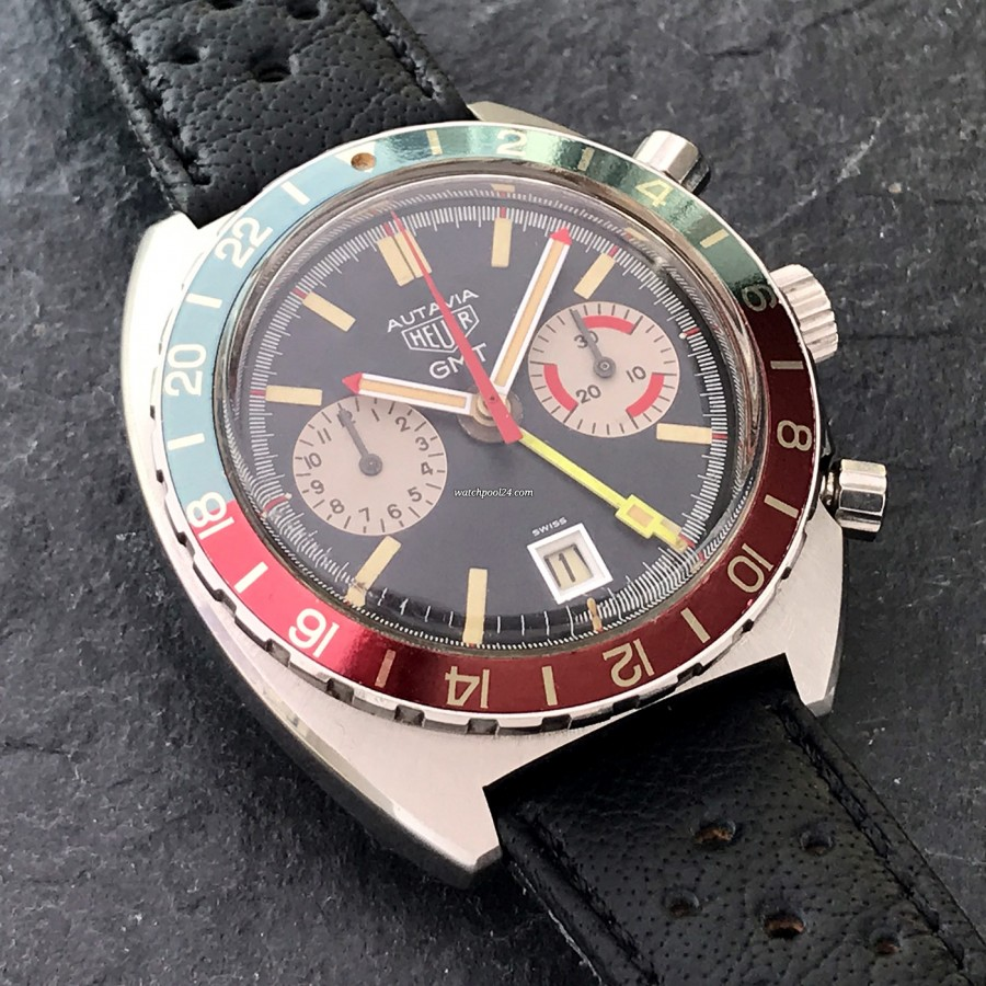 Heuer Autavia 741.603 GMT - beautiful and rare GMT-Chronograph