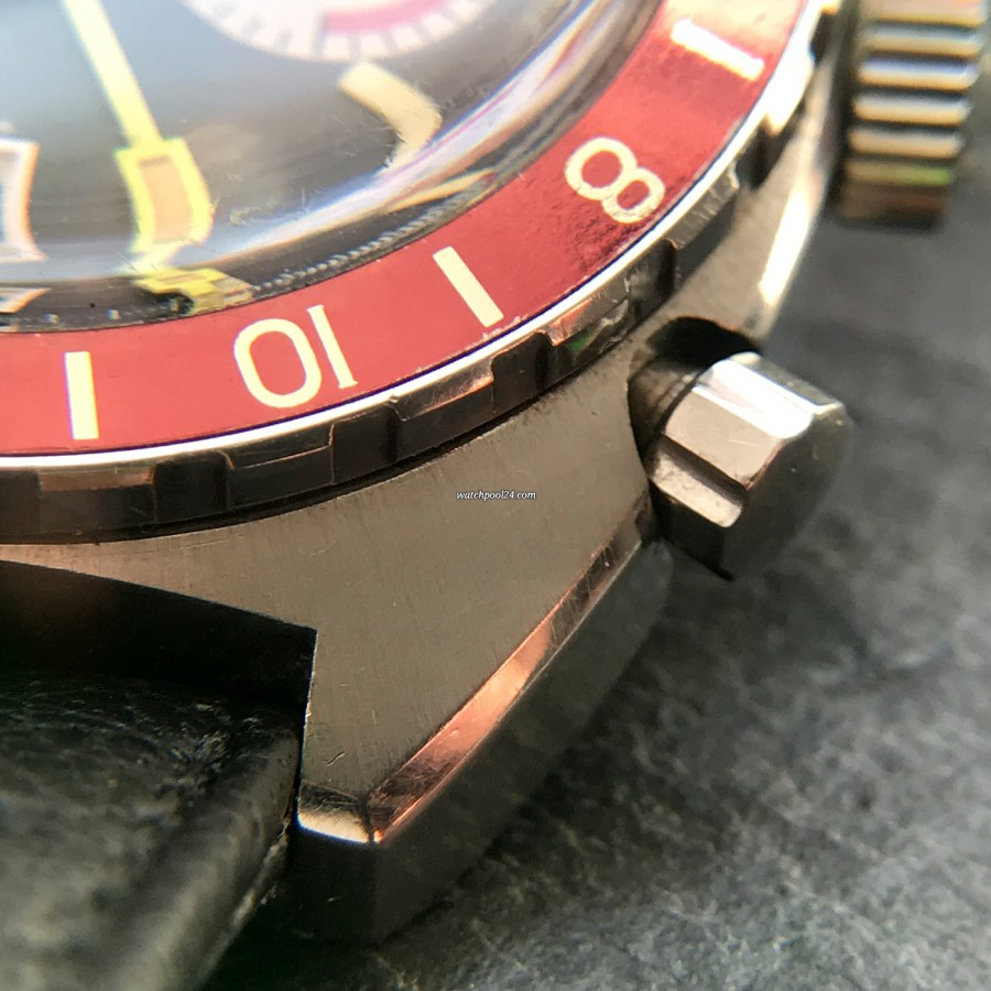 Heuer Autavia 741.603 GMT - crisp case