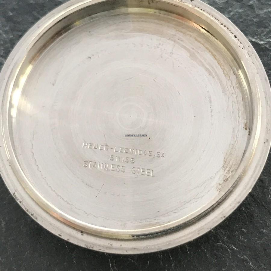 Heuer Skipper 1564 - signierter Gehäusebodendeckel