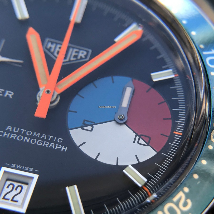 Heuer Skipper 1564 - large 15 minutes counter
