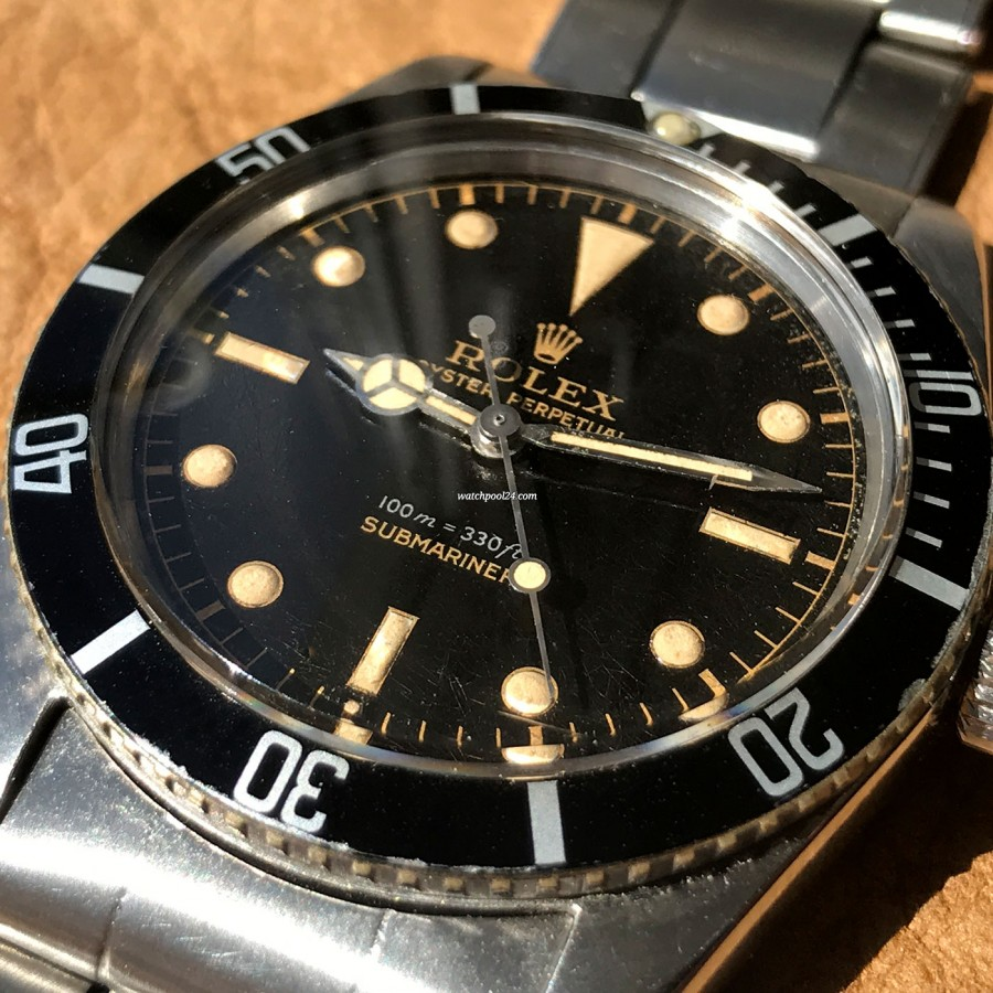 Rolex Submariner 5508 James Bond - glossy gilt dial