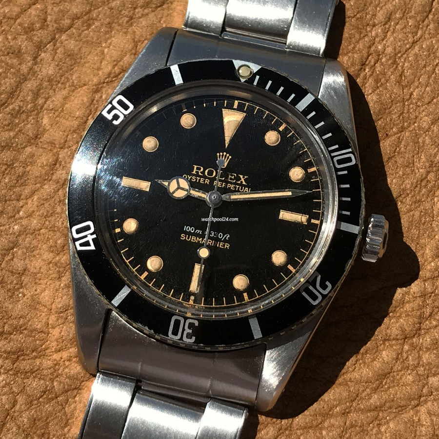 Rolex Submariner 5508 James Bond - patina in the radium lume