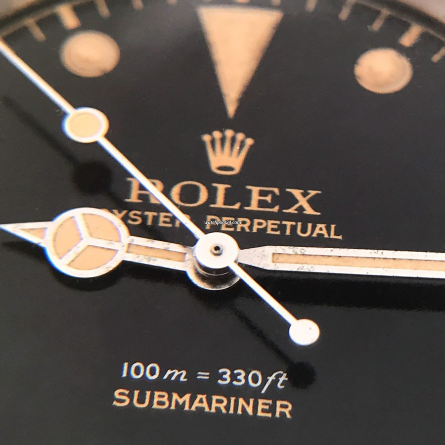 Rolex Submariner 5508 James Bond - gilt lettering, perfect hand set