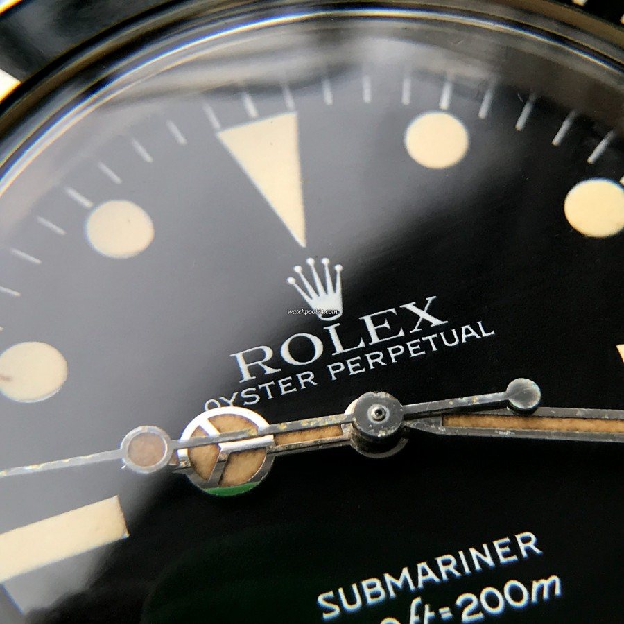 Rolex Submariner 5513 Punched Papers - mattes Maxi IV Zifferblatt