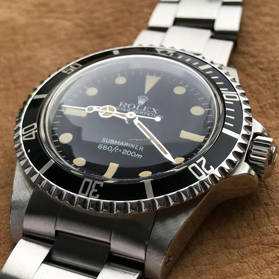 Rolex Submariner 5513 Punched Papers - scharfe Lünette und scharfes Gehäuse