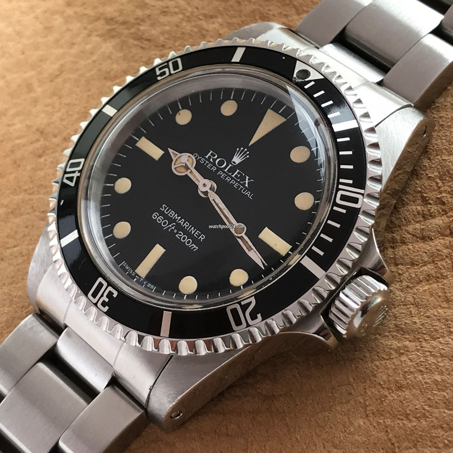 Rolex Submariner 5513 Punched Papers - big triplock crown