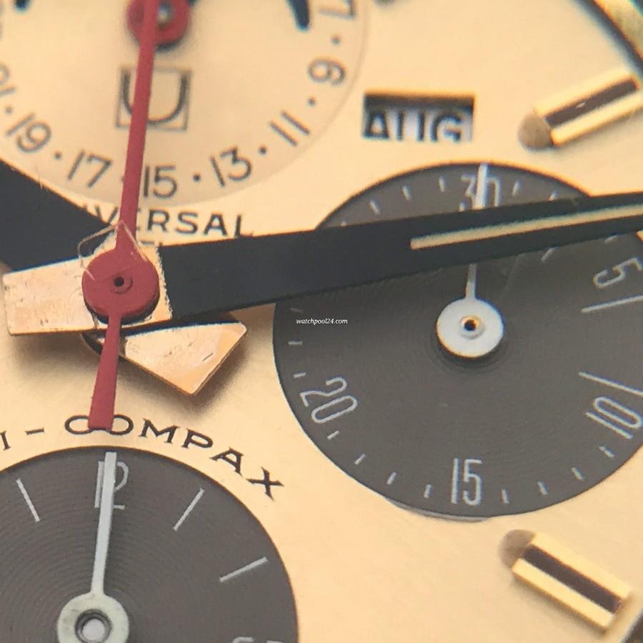 Universal Genève Tri-Compax 181102 - 30 Minutenzähler des Chronographen und der Minutenzeiger