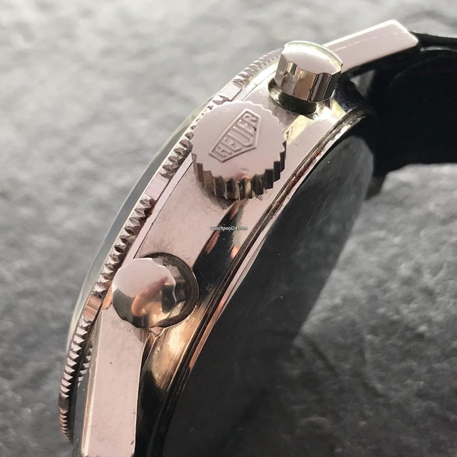 Heuer Autavia 2446C GMT MK4 - Heuer crown and fluted chrono pushers