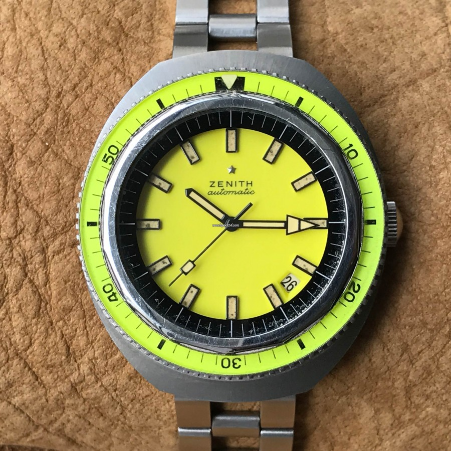 Zenith Diver A3637 Big Lemon NOS - eye-catching diver's watch from 1960s