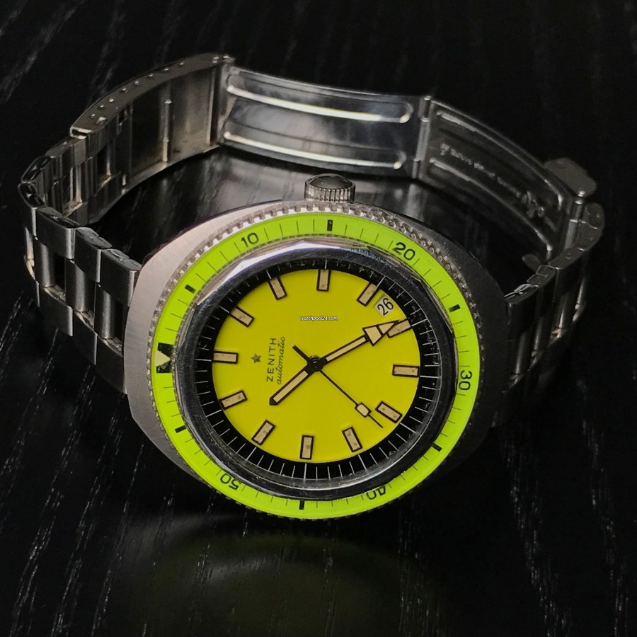 Zenith Diver A3637 Big Lemon NOS - limonenfarbene Bakelit-Lünette