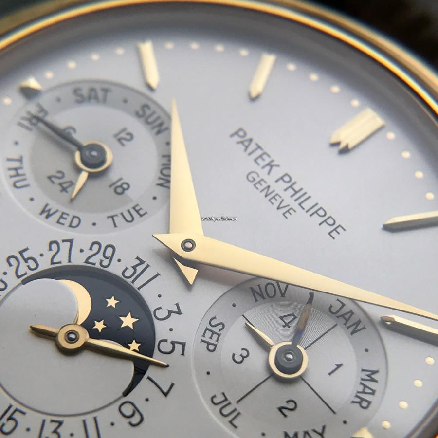Patek Philippe Grand Complications 3940 Full Set - weißes Zifferblatt mit goldenen Elementen