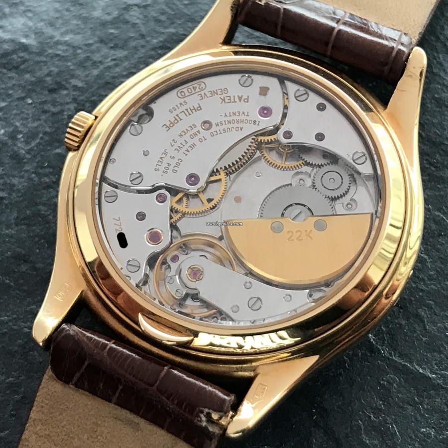 Patek Philippe Grand Complications 3940 Full Set - Uhrwerk Kaliber 240Q hinter dem Saphirglas-Boden