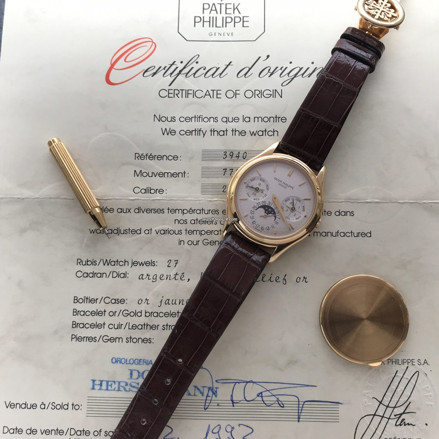 Patek Philippe Ewiger Kalender 3940 Full Set - Certificate Of Origin