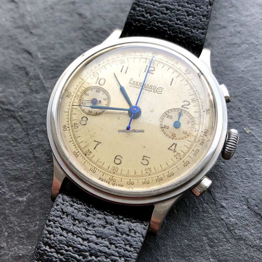 Eberhard & Co. Monopusher Chronograph Big Size - a vintage watch from the 1940s