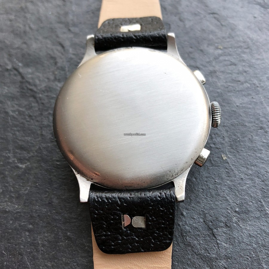 Eberhard Monopusher Chronograph Big Size - gedrückter Gehäuseboden