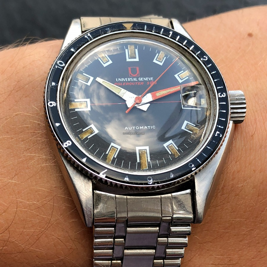 Universal Genève Polerouter Sub 869120 - vintage diver's watch with outstanding design