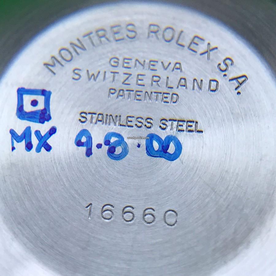 Rolex Sea-Dweller 16660 Full Set - Gehäusedeckel von innen