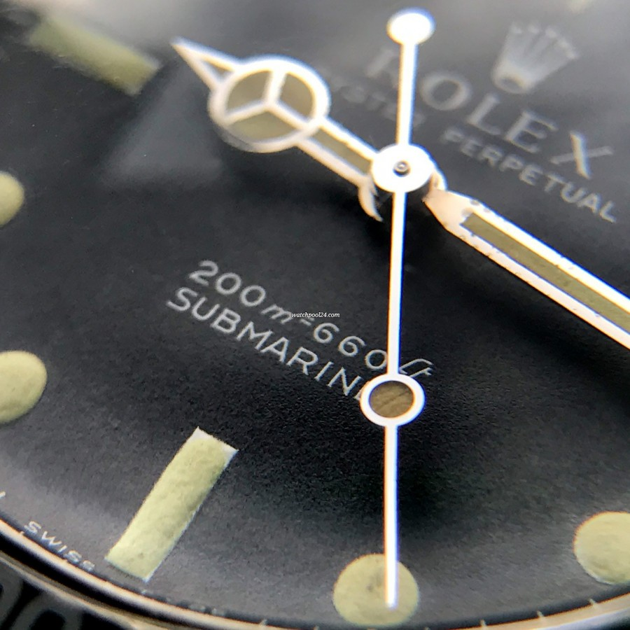 """Rolex Submariner 5513 Box and Papers - """"meters first"""" Aufdruck"""