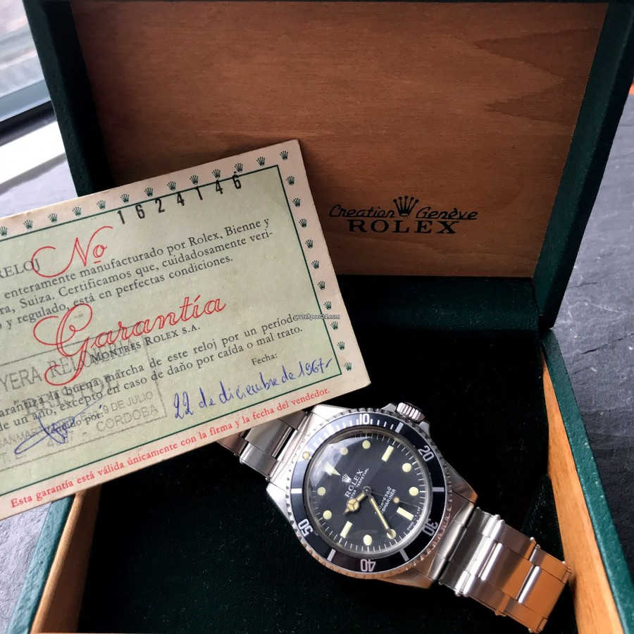 Rolex Submariner 5513 Box and Papers