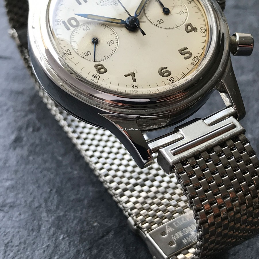 Longines Chronograph 6474 Flyback - well-preserved stainless steel case